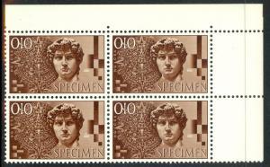 SWITZERLAND TEST STAMPS 1950s Michelangelo DAVID & MAYA CALENDAR Test Stamp NH
