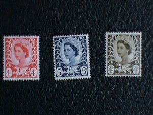 Wales & Monmouth Stamp:1967-9 SC#8//11 very old MNH Stamps