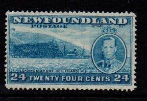 Newfoundland Sc 241 1937 24 c Bell Island & George VI stamp mint