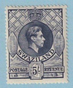SWAZILAND SG 37a 13.5 x 14 slate  MINT HINGED OG * NO FAULTS VERY FINE! CV 55 +