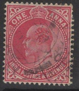 INDIA SG150 1907 1a CARMINE USED