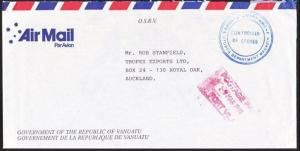 VANUATU 1993 POSTAGE PAID Official cover airmail to NZ.....................67411
