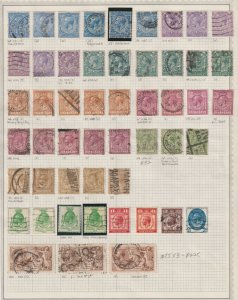 GREAT BRITAIN 2 ALBUM PAGES VALUES TO $75 EACH COLLECTION LOT SUPER SPECIALIST
