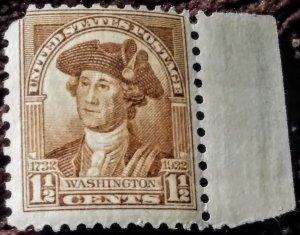 USA 706 - 1932 1½¢ Washington Centennial MNH OG XF