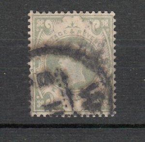 J26254  jlstamps 1887-92 great britain used #122, $ 72.50 scv dark cancel