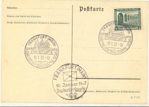 Germany 1937 Frankfurt  Philatelic day