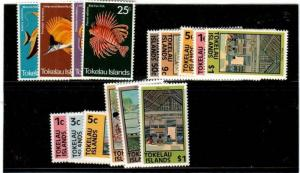 Tokelau Scott 45-56, 49a-56a Mint NH (Catalog Value $20.40)