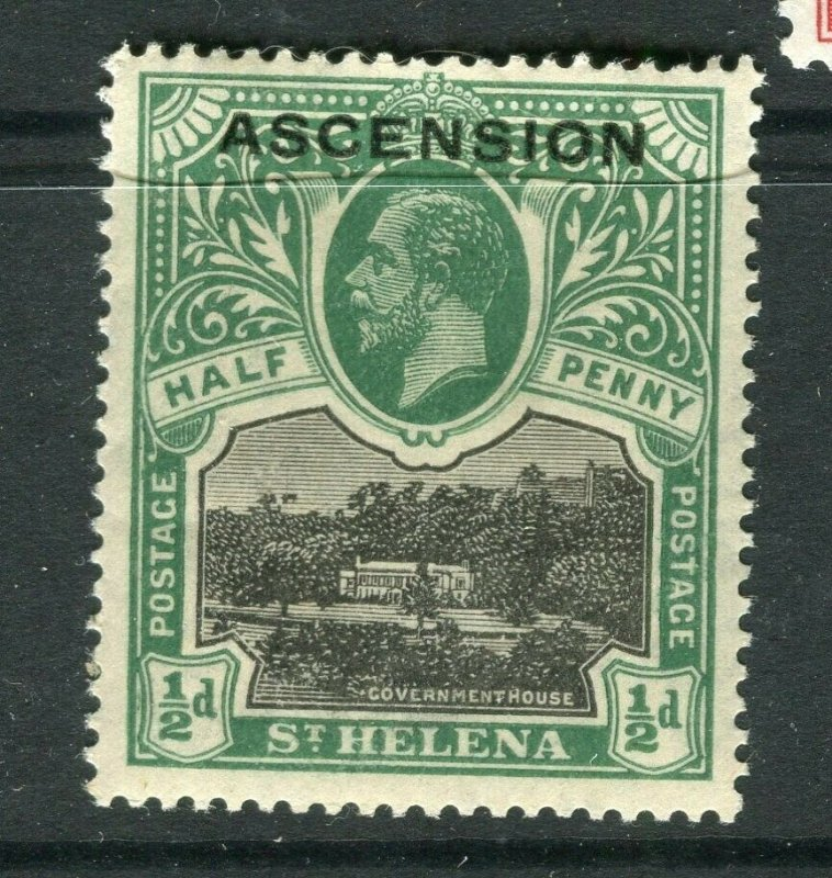 ASCENSION ISLANDS; 1912 early GV issue Mint hinged Shade of 1/2d. value