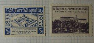 IV OSterr. Alkoholgegnertag Austria 1914 Expo Alcohol Day Brunn Poster Stamp Ads