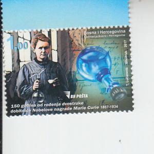 2017 Bosnia & Herzegovina Marie Curie (Scott 791) MNH