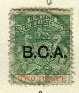 NYASALAND; 1891 early classic B.C.A. Company Optd. issue fine used 2d. value