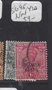 INDIA CHAMBA  (PP2410B)  KGV  1/2A, 1A   SG 45, 47A   VFU
