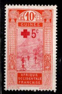 FRENCH GUINEA Scott B1 issued in 1915 with Red Cross surcharge small thin