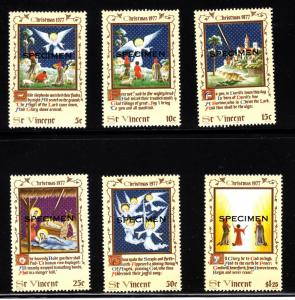 St. Vincent MNH 509-14 Christmas Specimen Overprint 1977