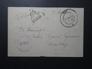 India 1945 Forces Cover / APO 367 (SOUTH INDIA) / Censored (II) - Z12419