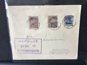 German occupation of Romania ninth army post 1917 stamp cover Ref  R28340