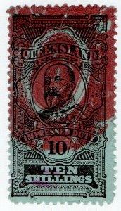 (I.B) Australia - Queensland Revenue : Impressed Duty 10/-