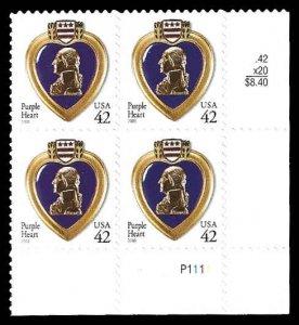 PCBstamps      US #4264 PB #$1.68(4x42c)Purple Heart, (P1111), MNH, (PB-4)