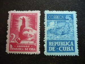 Stamps - Cuba - Scott# 418-419 - Mint Hinged Set of 2 Stamps