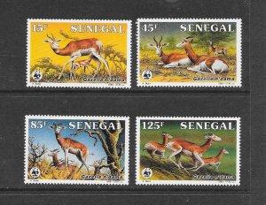 SENEGAL #677-80 GAZELLES  WWF  MNH