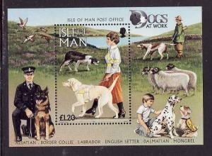 Isle of Man-Sc#722-unused NH sheet-Dogs-Animals-1996-