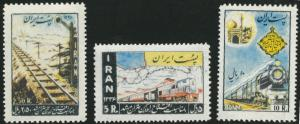 IRAN Scott 1074-6 MH** 1957 Railroad set CV$47 typical brownish gum