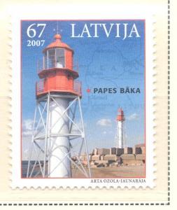 Latvia Sc 676 2007 Papes Lighthouse stamp  mint NH