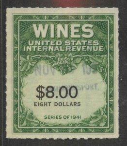 RE179 Used VF light canc Wine