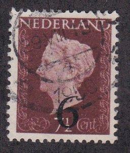 Netherlands # 330, Queen Juliana, Revalued, Used,