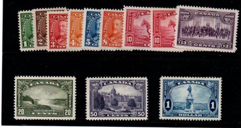 Canada Sc 217-27 1935 George V long stamp set mint NH