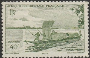 French West Africa, #38 Used From 1947