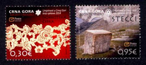 Montenegro Sc# 354-5 MNH Lace / Old Tombstone