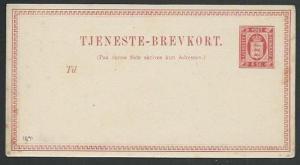 DENMARK 1871 4sk postcard fine unused - scarce.............................61230