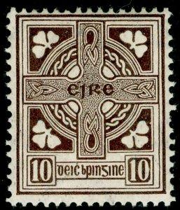 IRELAND SG81, 10d brown, LH MINT.