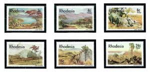 Rhodesia 371-86 MNH 1977 Mountains