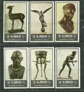 Ajman MNH Set Of 6 Sculptures