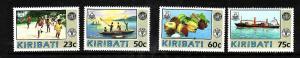 Kiribati-Sc#595-8-Unused NH set-Ships-WHO-1992-