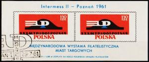 Poland. 1961 Miniature Sheet. S.G.MS1245a Fine Used