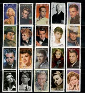 LEGENDS OF HOLLYWOOD 2967/5060 Complete Collection Of 20 Stamps MNH SHIPS FREE