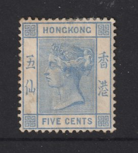 Hong Kong a MH 5c QV crown CA watermark
