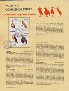 Palau 190a on Souvenir Page, Ground Dwelling Birds