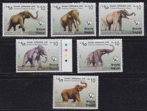 NEPAL - 2015 PREHISTORIC ELEPHANTS OF NEPAL / ANIMALS - 6V - MINT NH