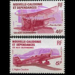 NEW CALEDONIA 1983 - Scott# C188B-C Plane Set of 2 NH