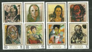Ajman MNH Set Of 8 Rutsch Paintings