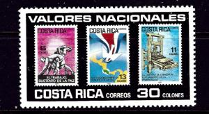 Costa Rica 326 Used 1985 issue has a signature on back