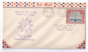 First Airmail Flight Diesel Powered Airplane Thompson Corp