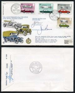 RFDC15 British Motor Cars Signed by Dr J Tanner and Mr J Bruce