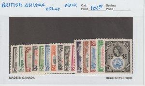 British Guiana 253-67 VF MNH