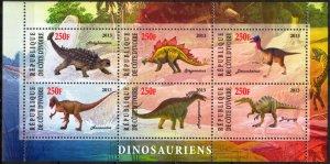 Ivory Coast 2013 Dinosaurs (2) MNH Cinderella !