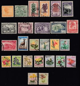 BELGIAN CONGO = Selection of 26 Different Stamps